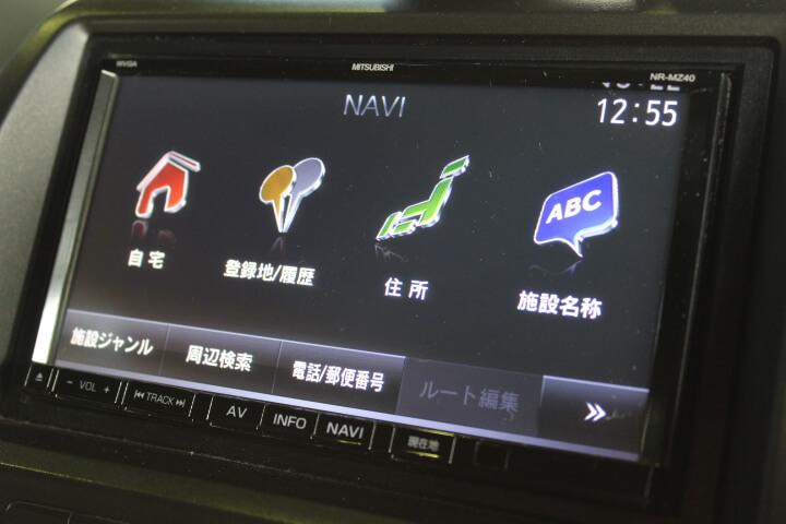 三菱 NR-MZ40 メモリーナビ&フルセグTV画像