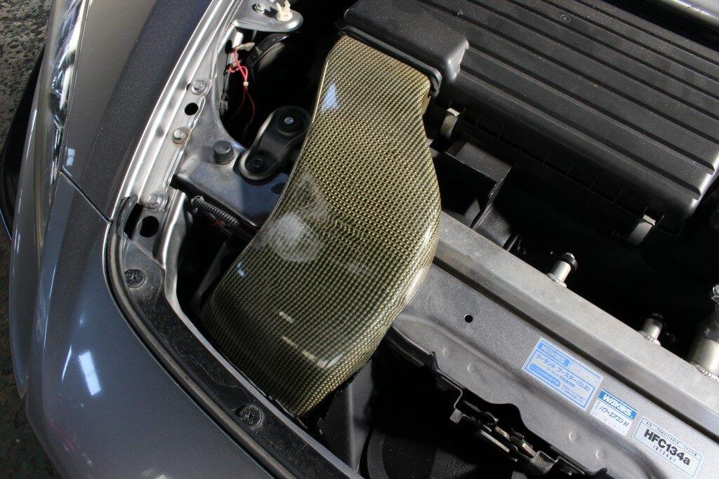 S2000 SPOONカーボンインテークダクト画像