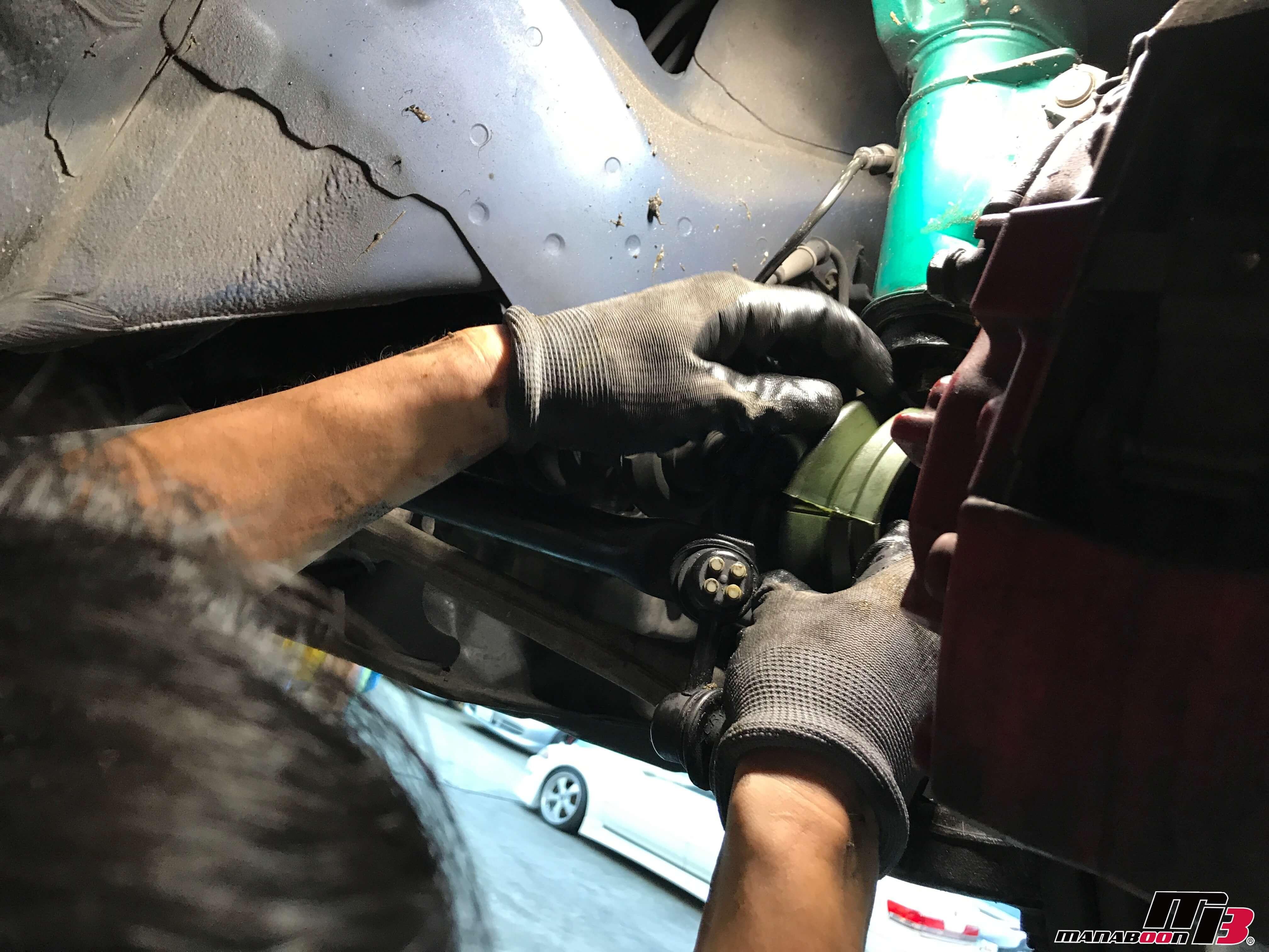 インテグラタイプR DC5ドラシャブーツ割れタイプ取り付け画像