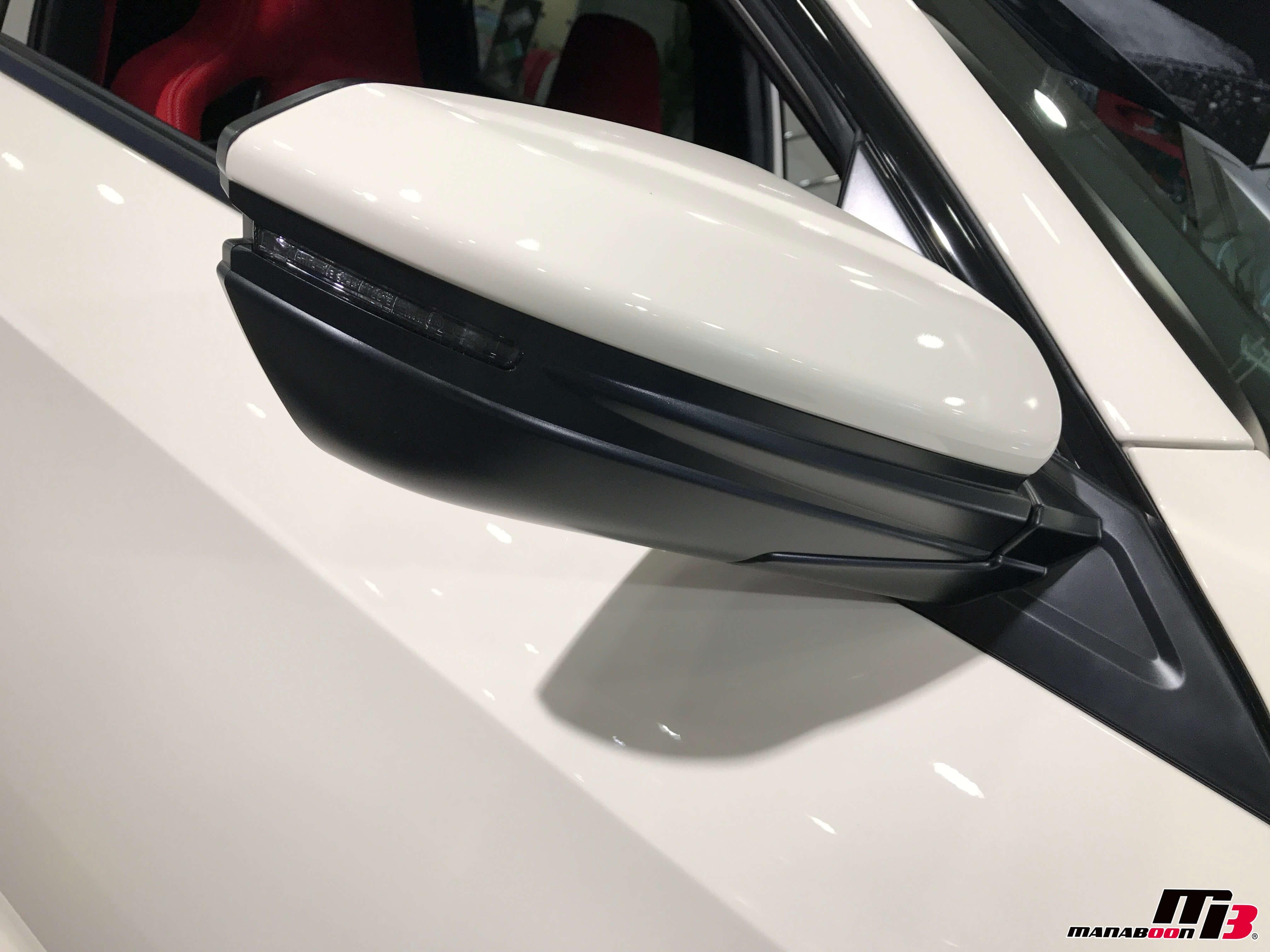 新型シビックタイプR(FK8)ドアミラー画像
