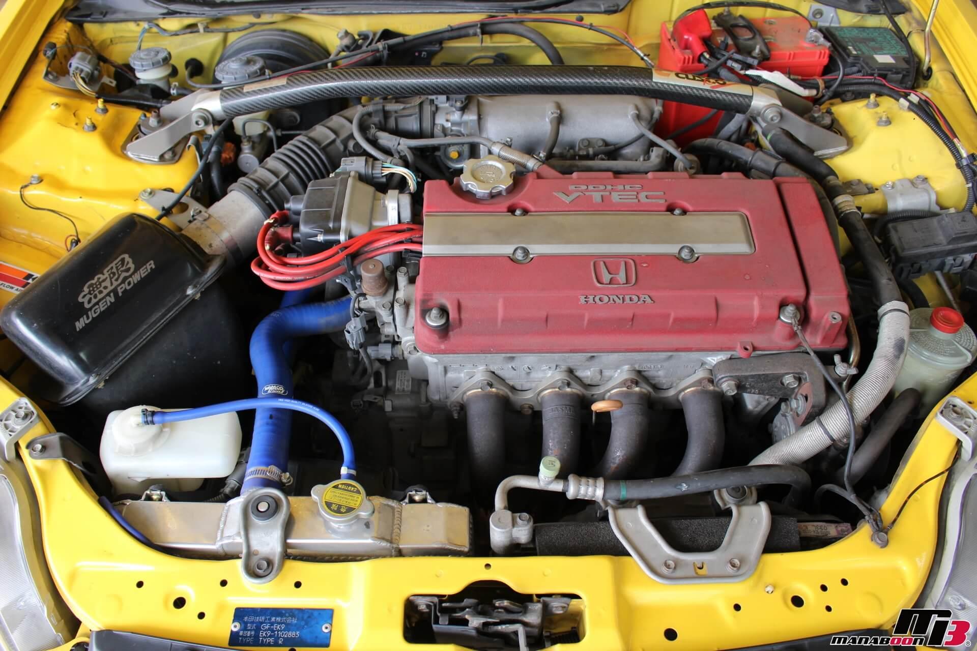 シビックタイプR(EK9)エンジン画像