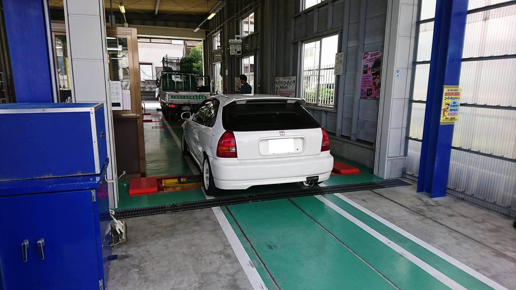 EK9シビックタイプR車検取得画像