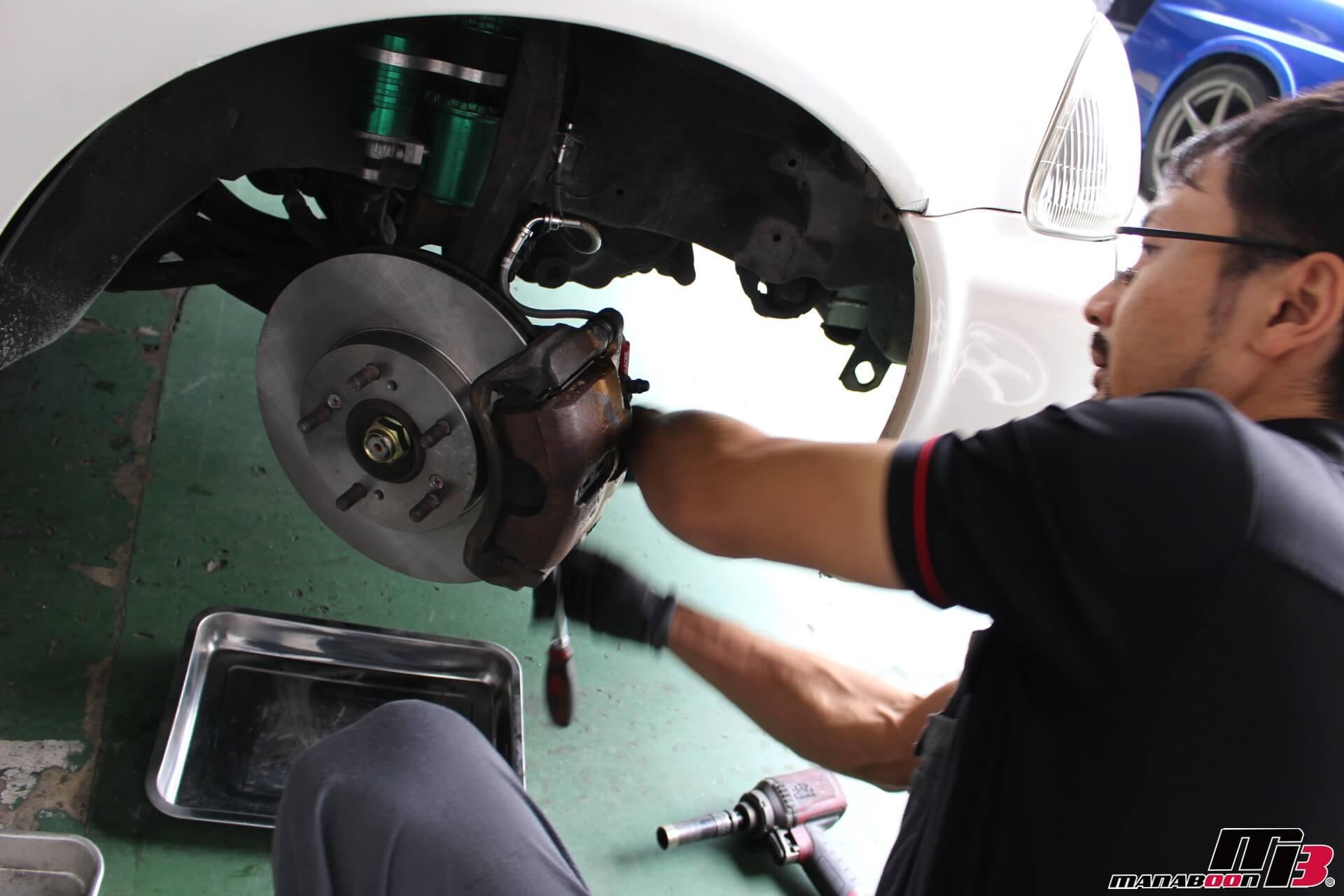 シビックタイプR(EK9)ブレーキパッド&ローター交換画像