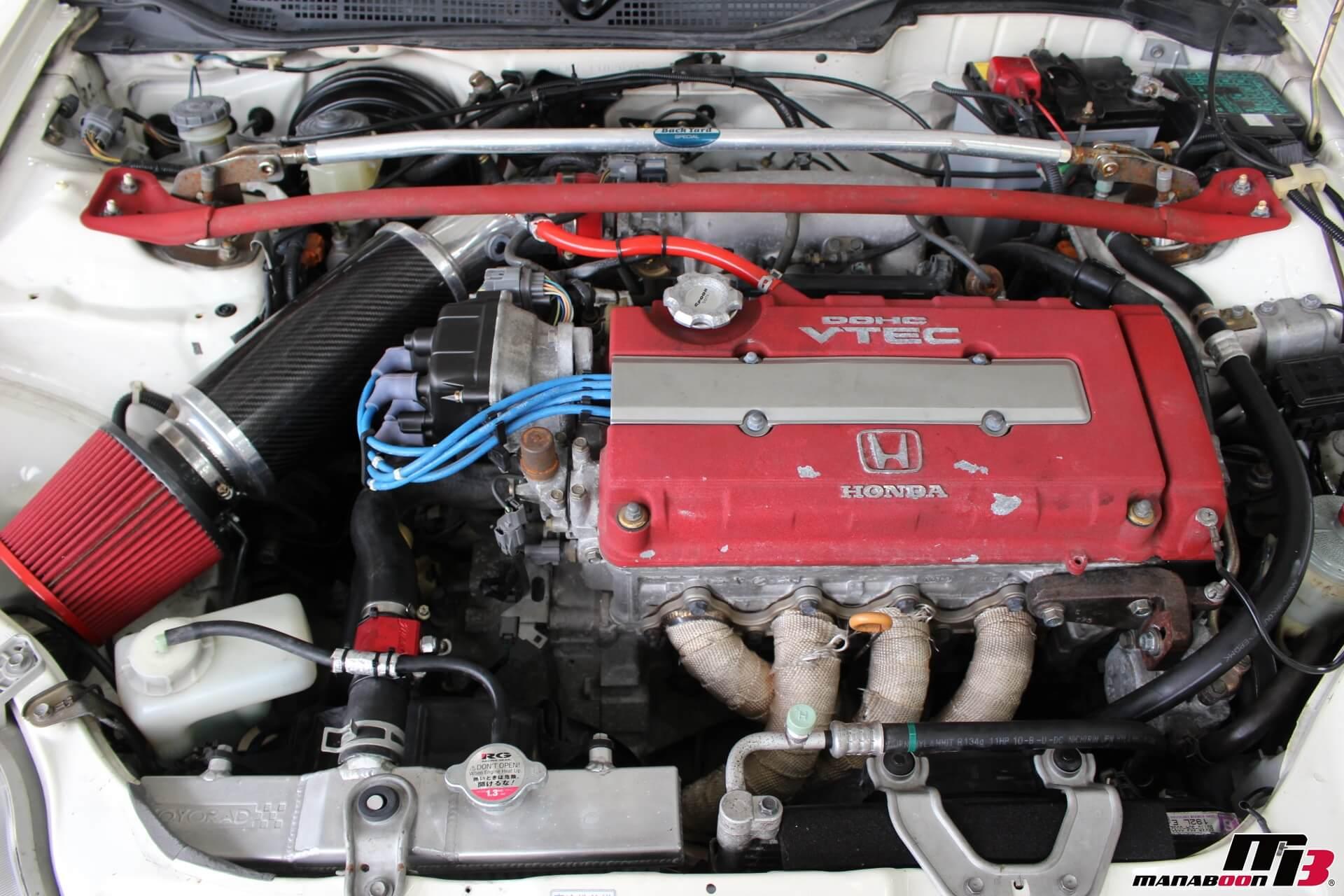 シビックタイプR(EK9)B16Bエンジン画像