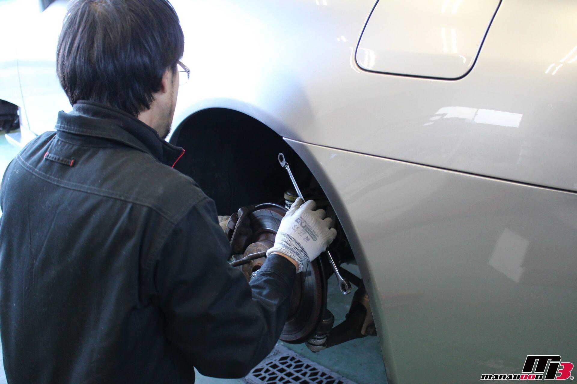 S2000リアキャリパー&ローター交換作業画像