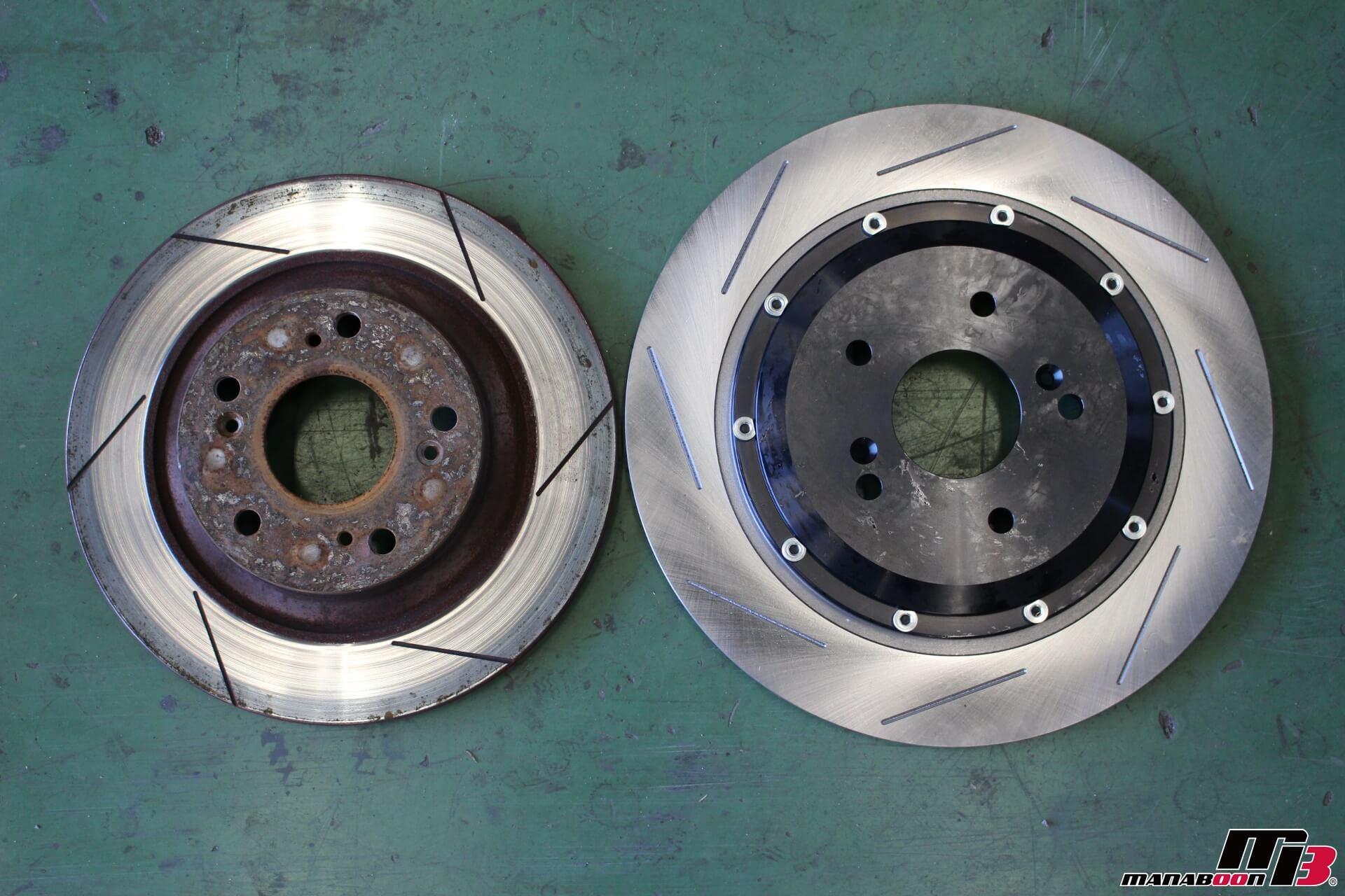 S2000 リアΦ330ローターとの比較画像