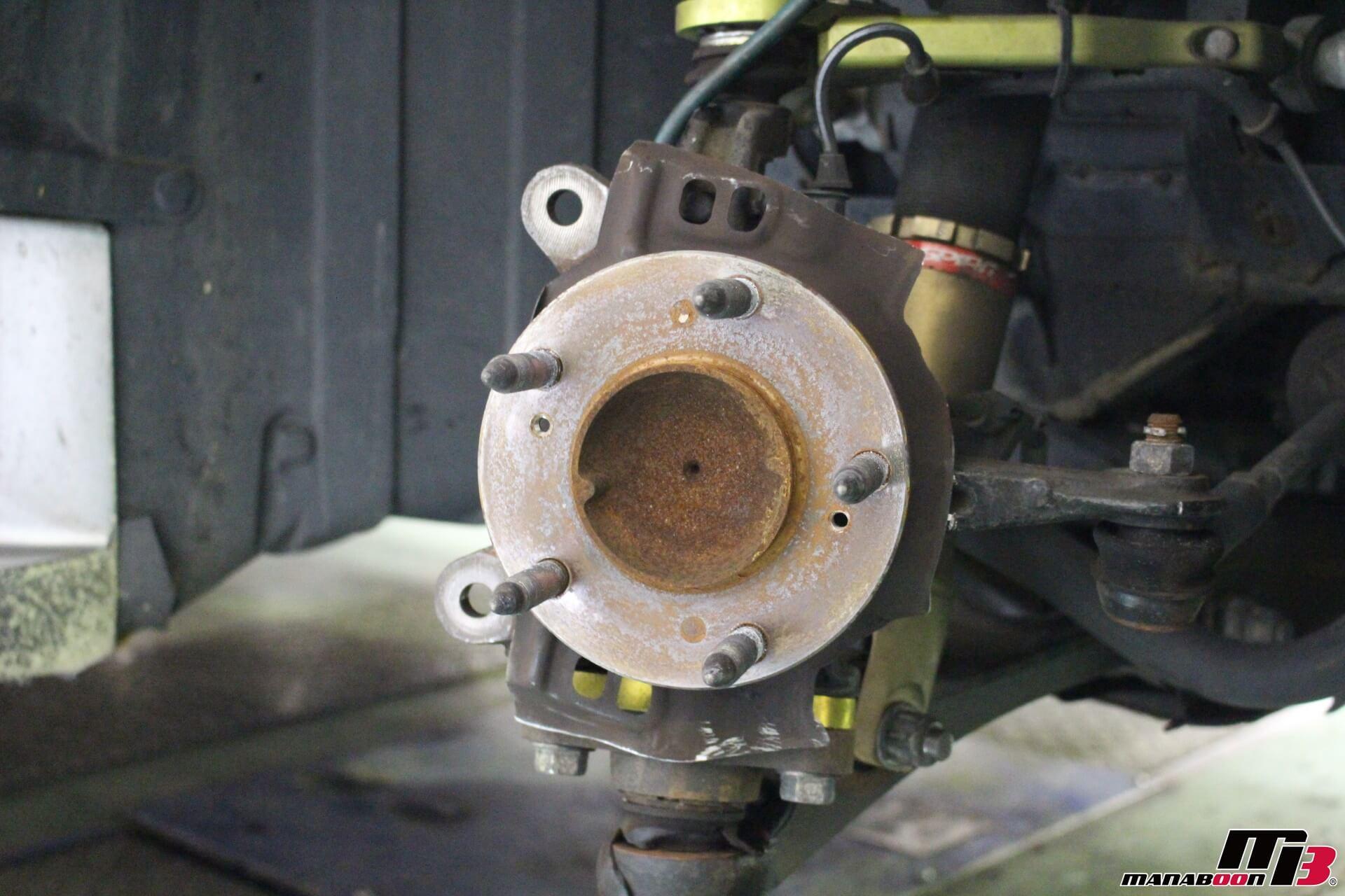 S2000 アクレブレーキキャリパー交換画像
