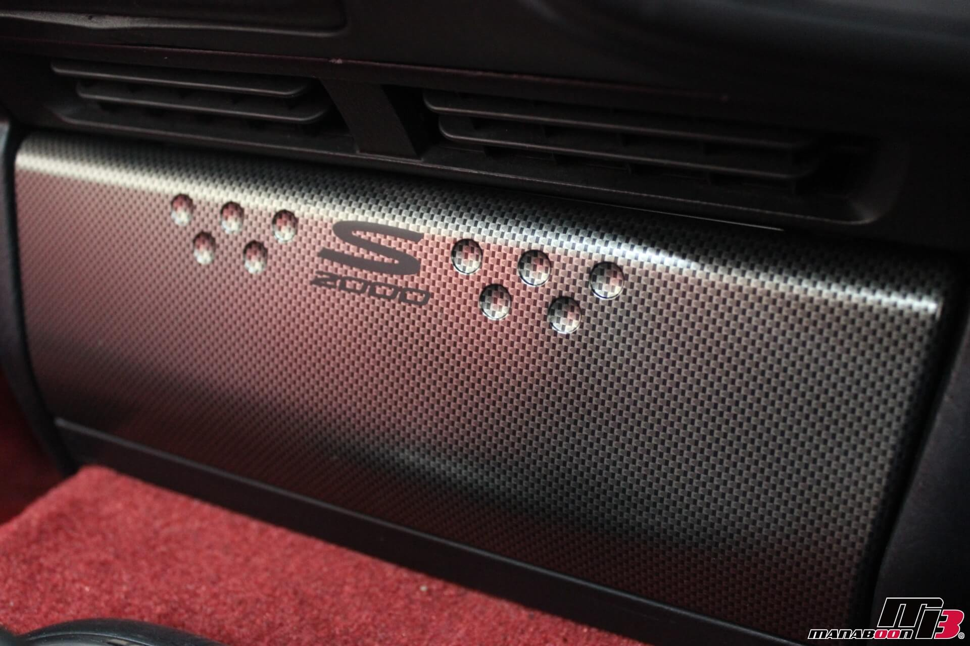 S2000純正オプションチタン調オーディオパネル画像