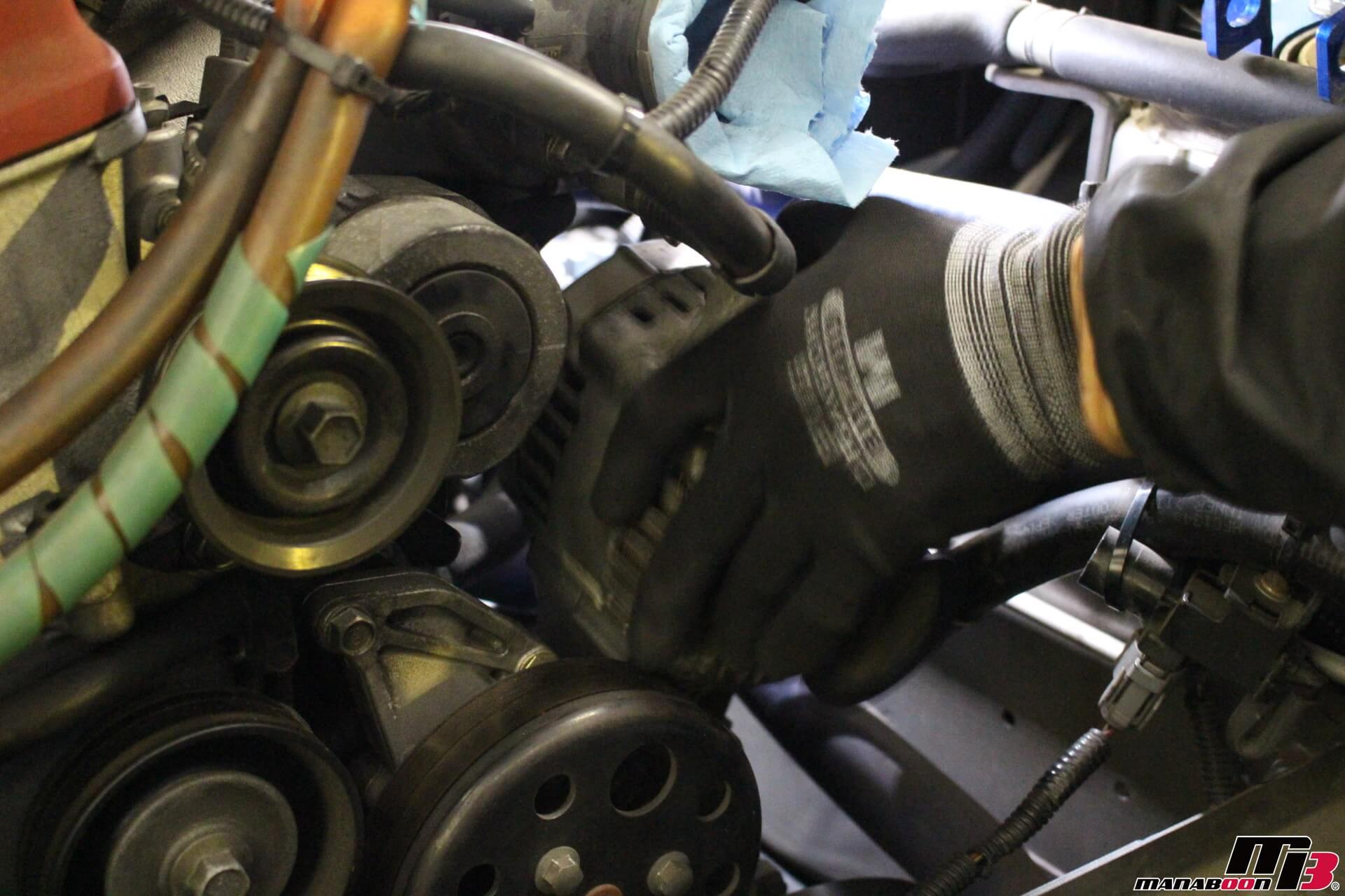 S2000オルタネーター取り付け画像