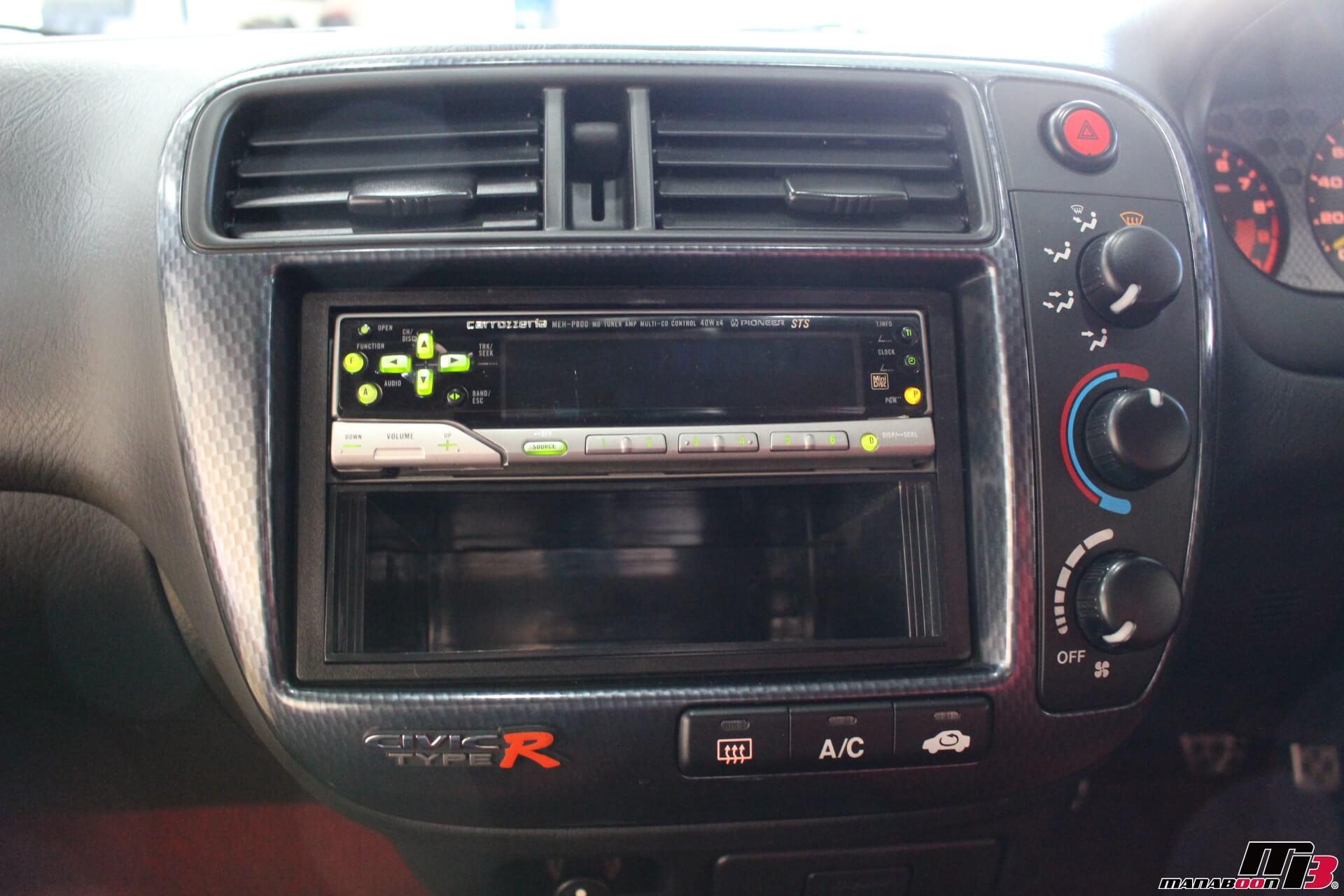シビックタイプR X(EK9)オーディオパネル画像