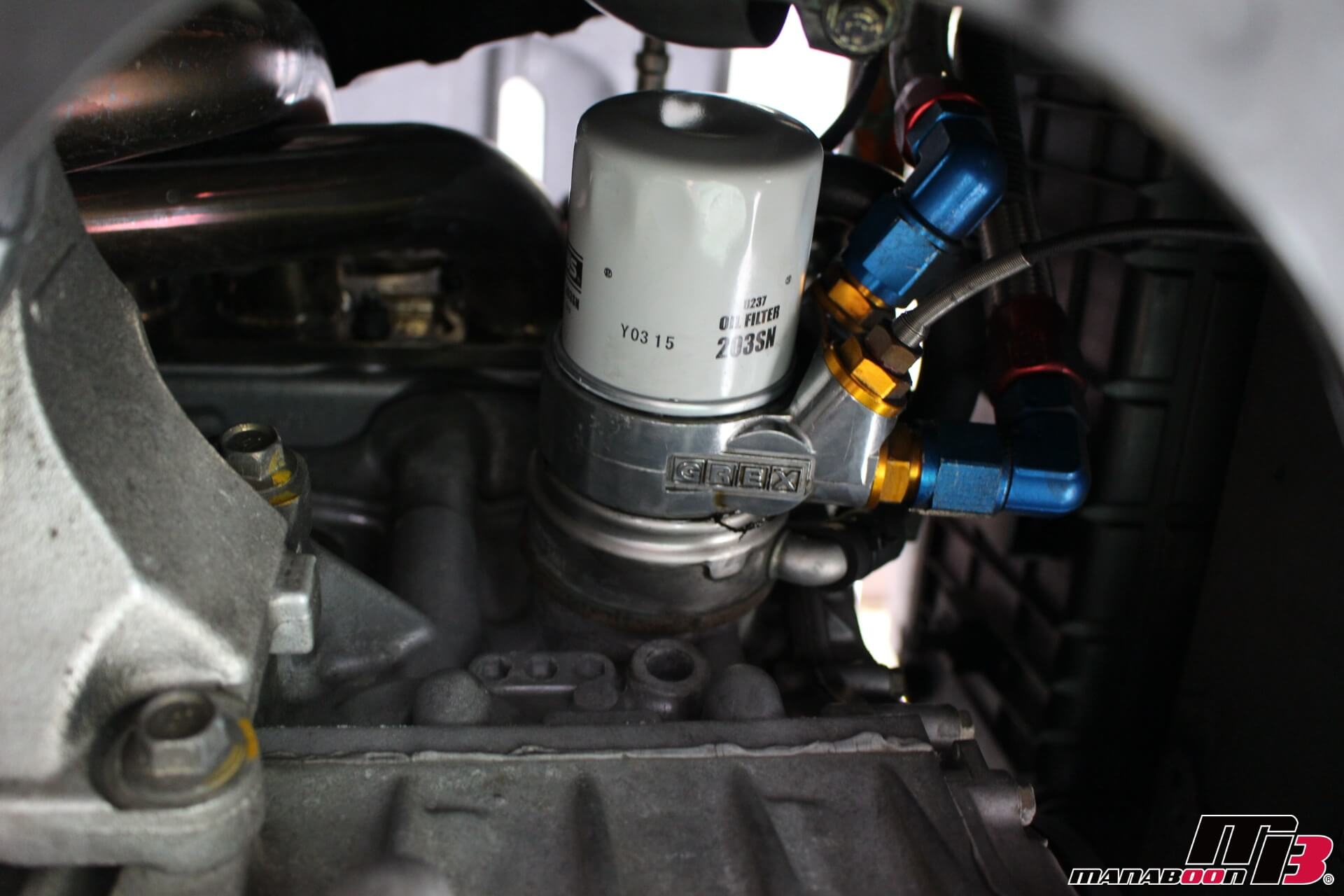 デモカーS2000オイル交換画像