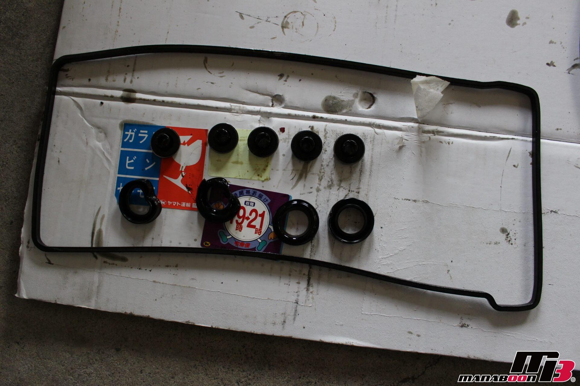 S2000ヘッドカバーパッキン交換画像