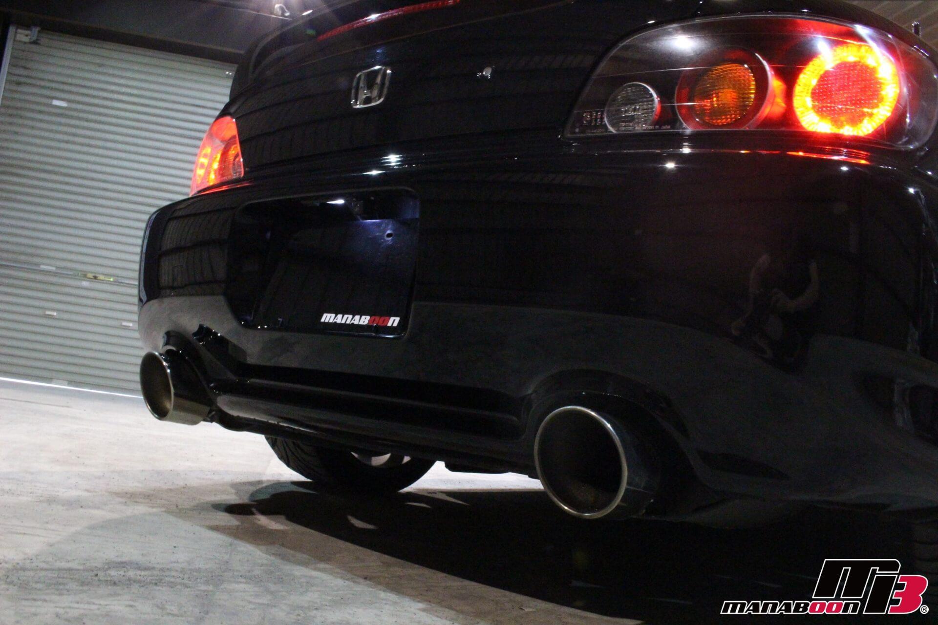 S2000 純正マフラー&大型マフラーカッター画像