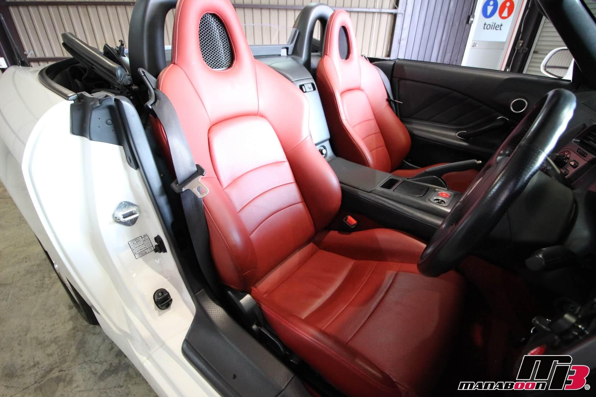 S2000赤革内装画像