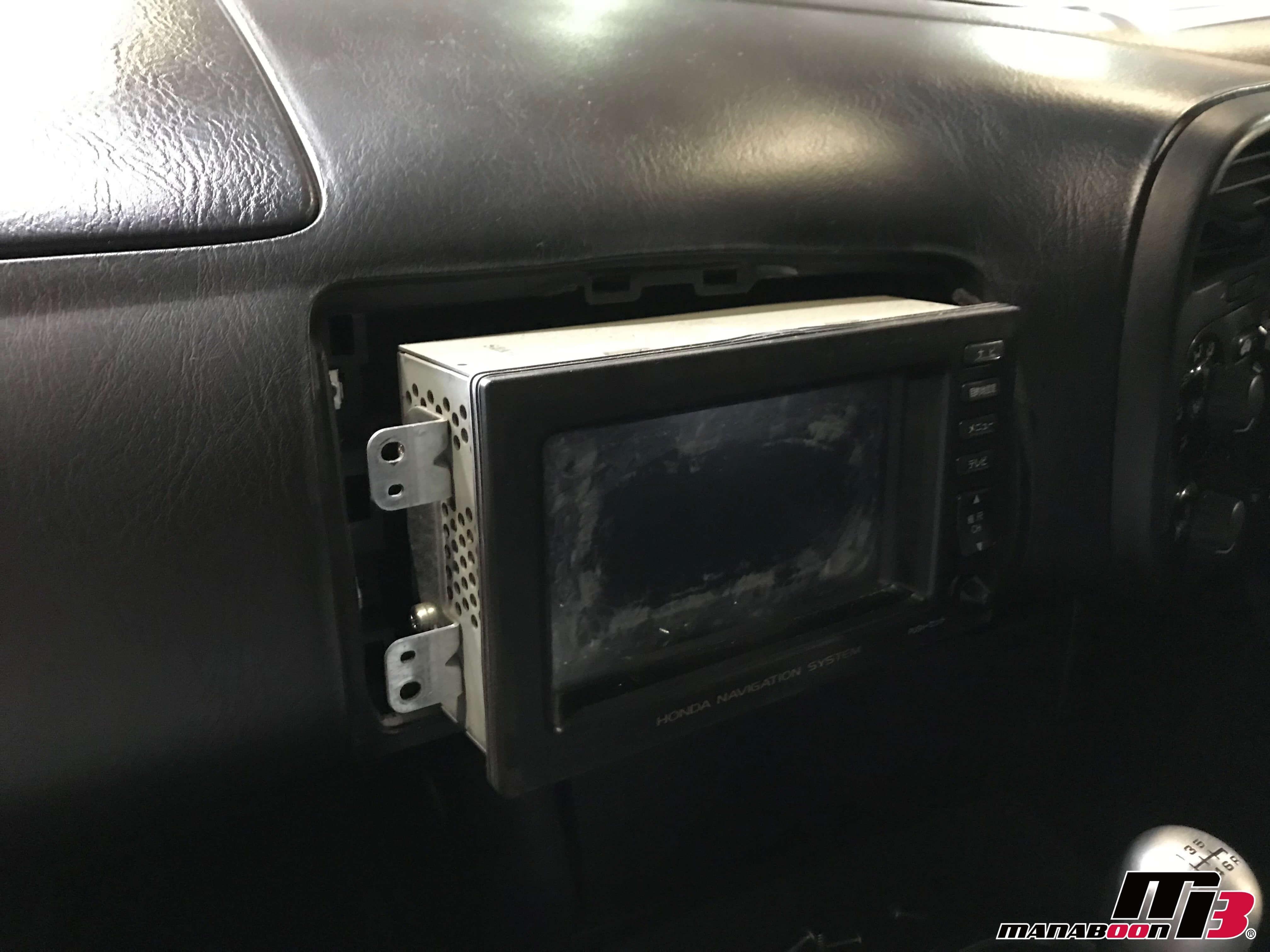 S2000純正ナビモニター交換画像