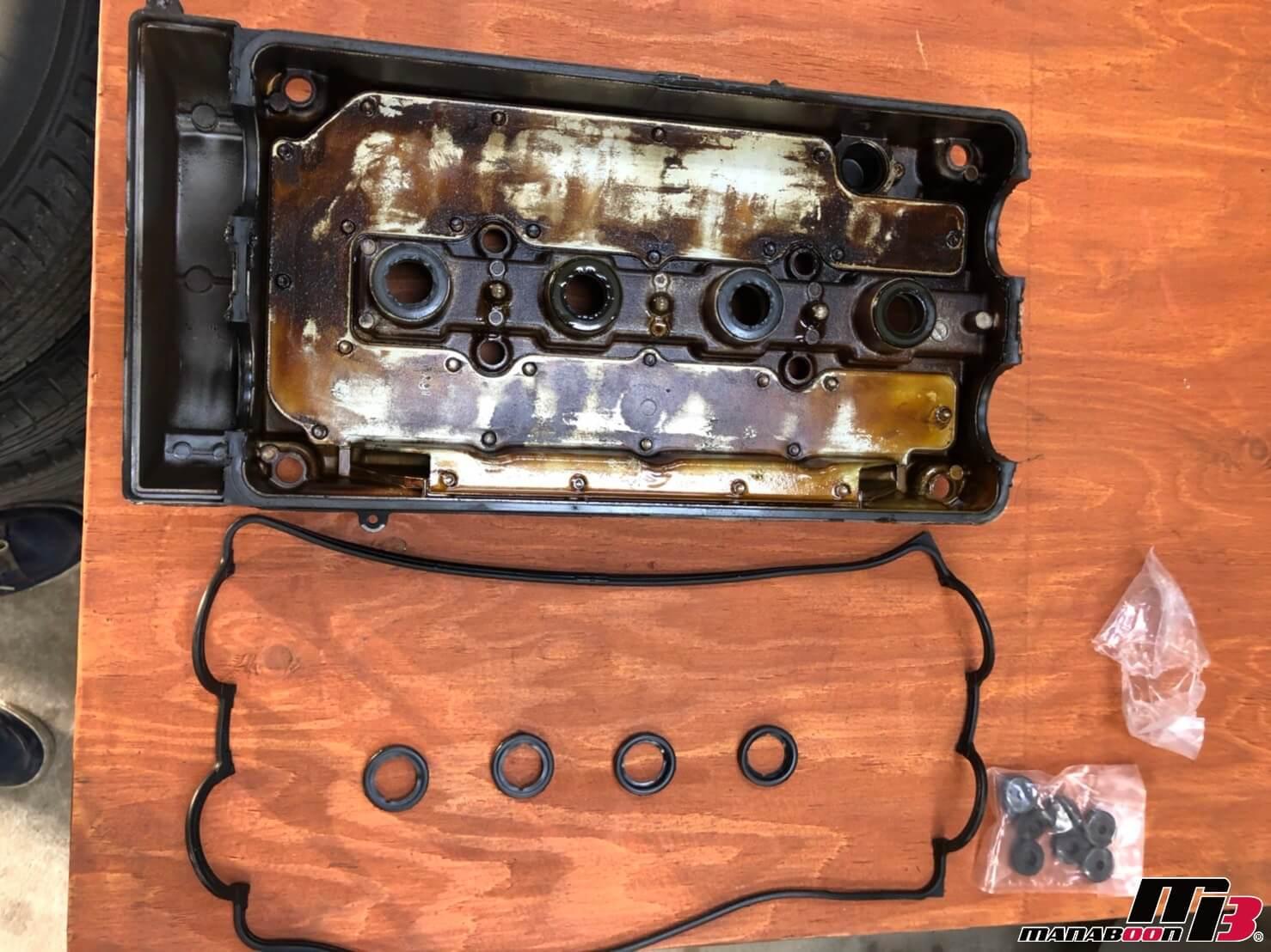 シビックSiR2(EG6)ヘッドカバーパッキン交換画像