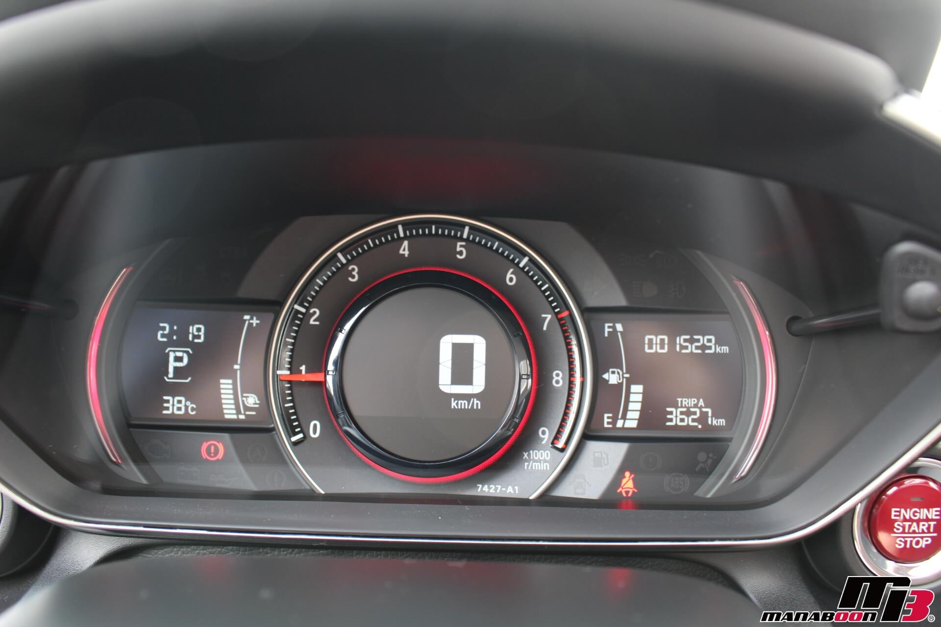 S660スポーツモードメーター画像