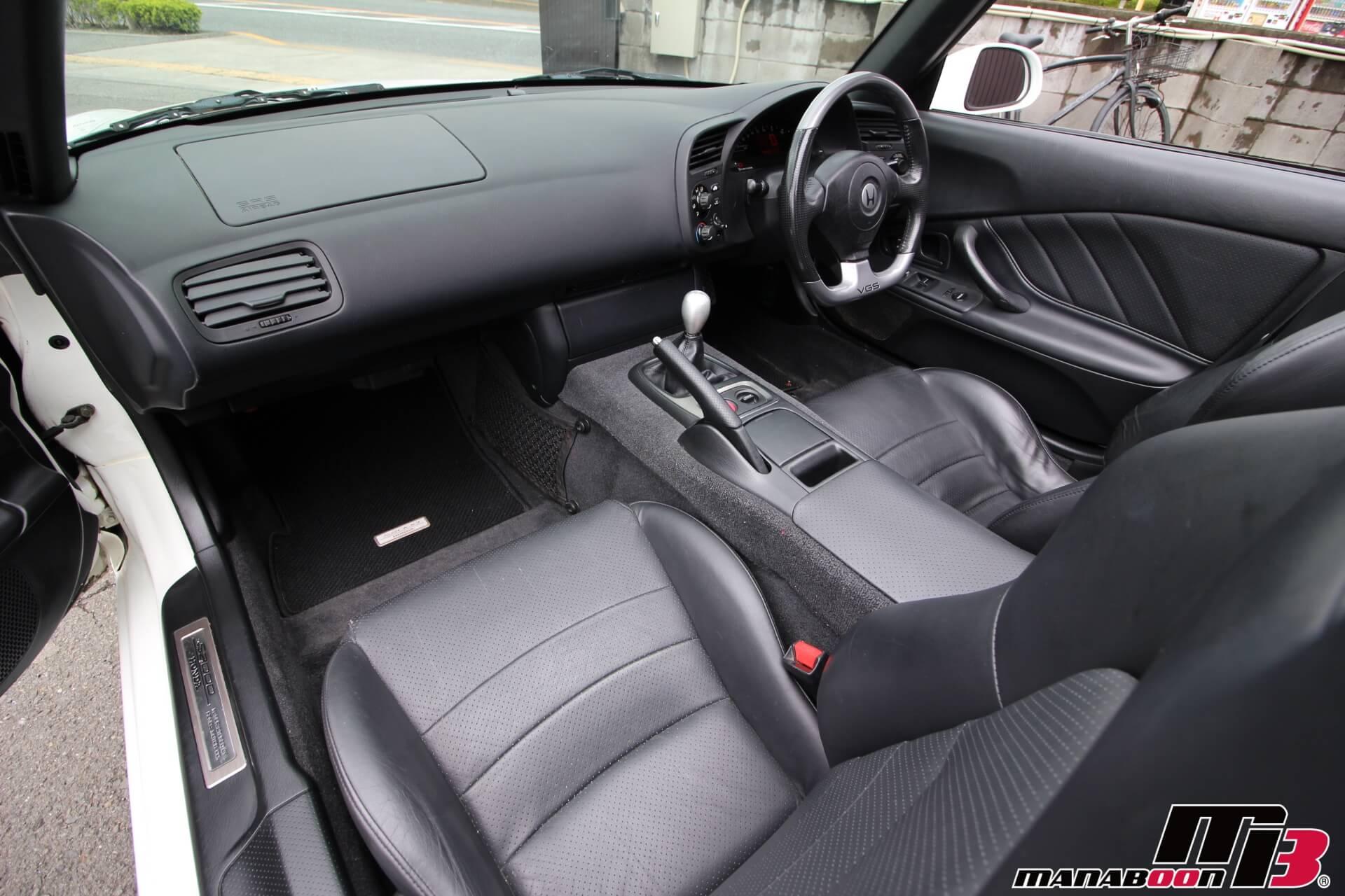 S2000タイプV黒革シート画像