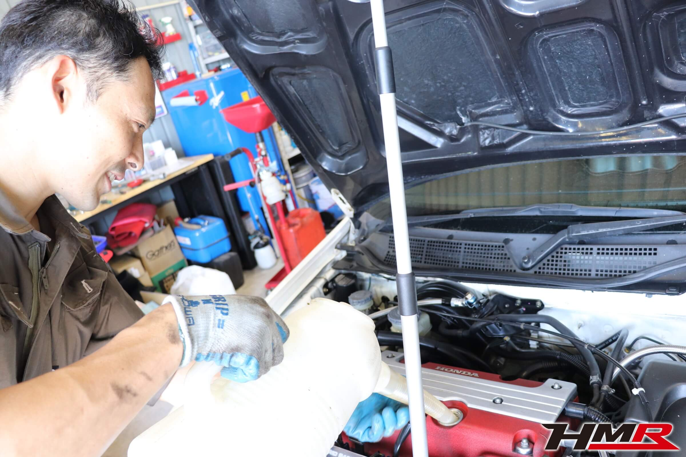 シビックタイプR(EK9)エンジンオイル交換