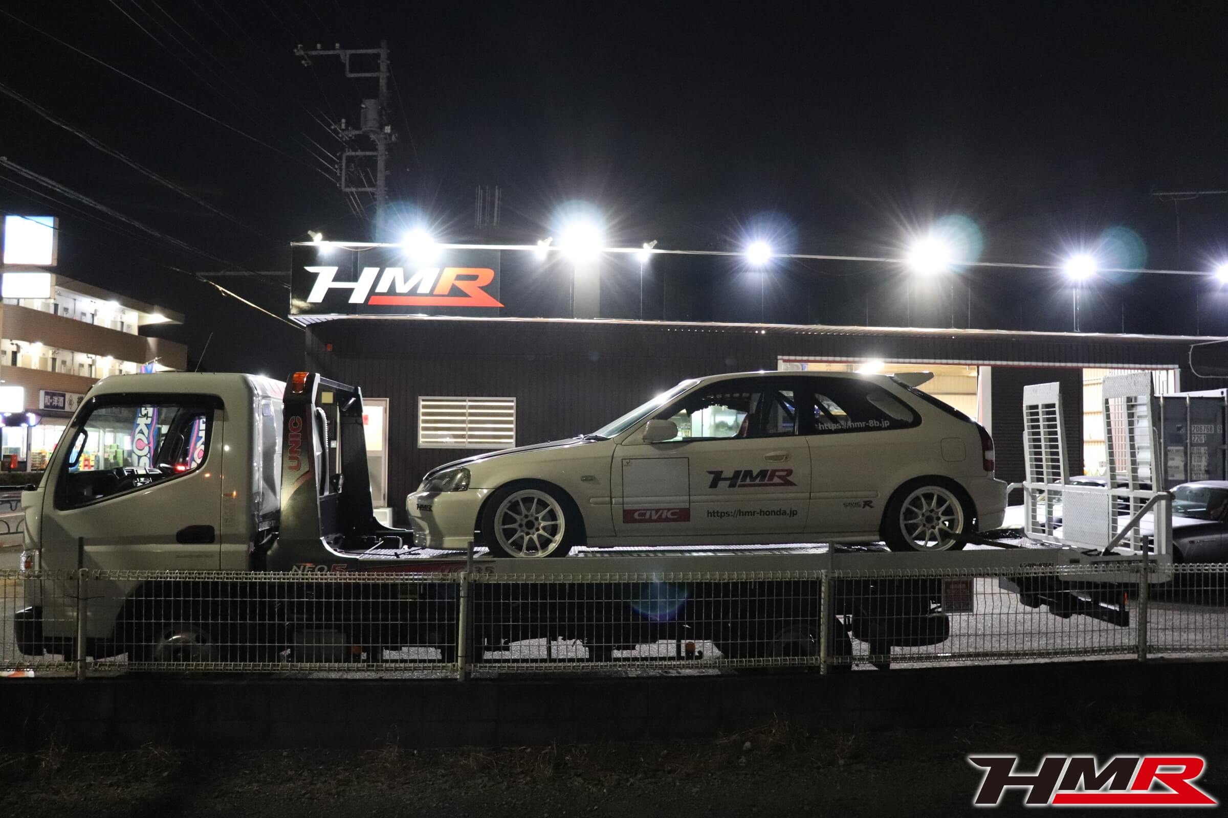 Fuji1-GP EK9レース車両積み込み