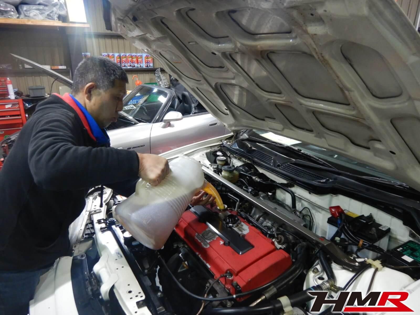 98DC2タイプRエンジンオイル交換