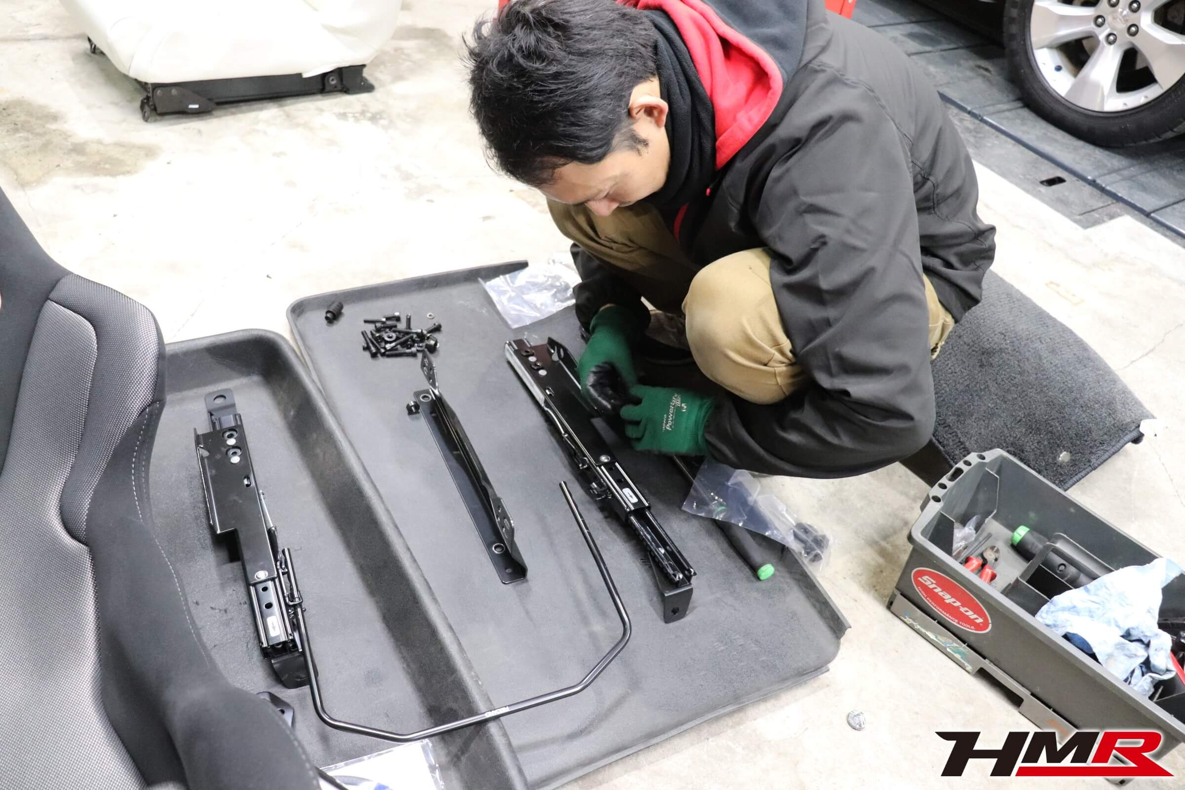 NSX(NA1)TS-Gレカロシート交換