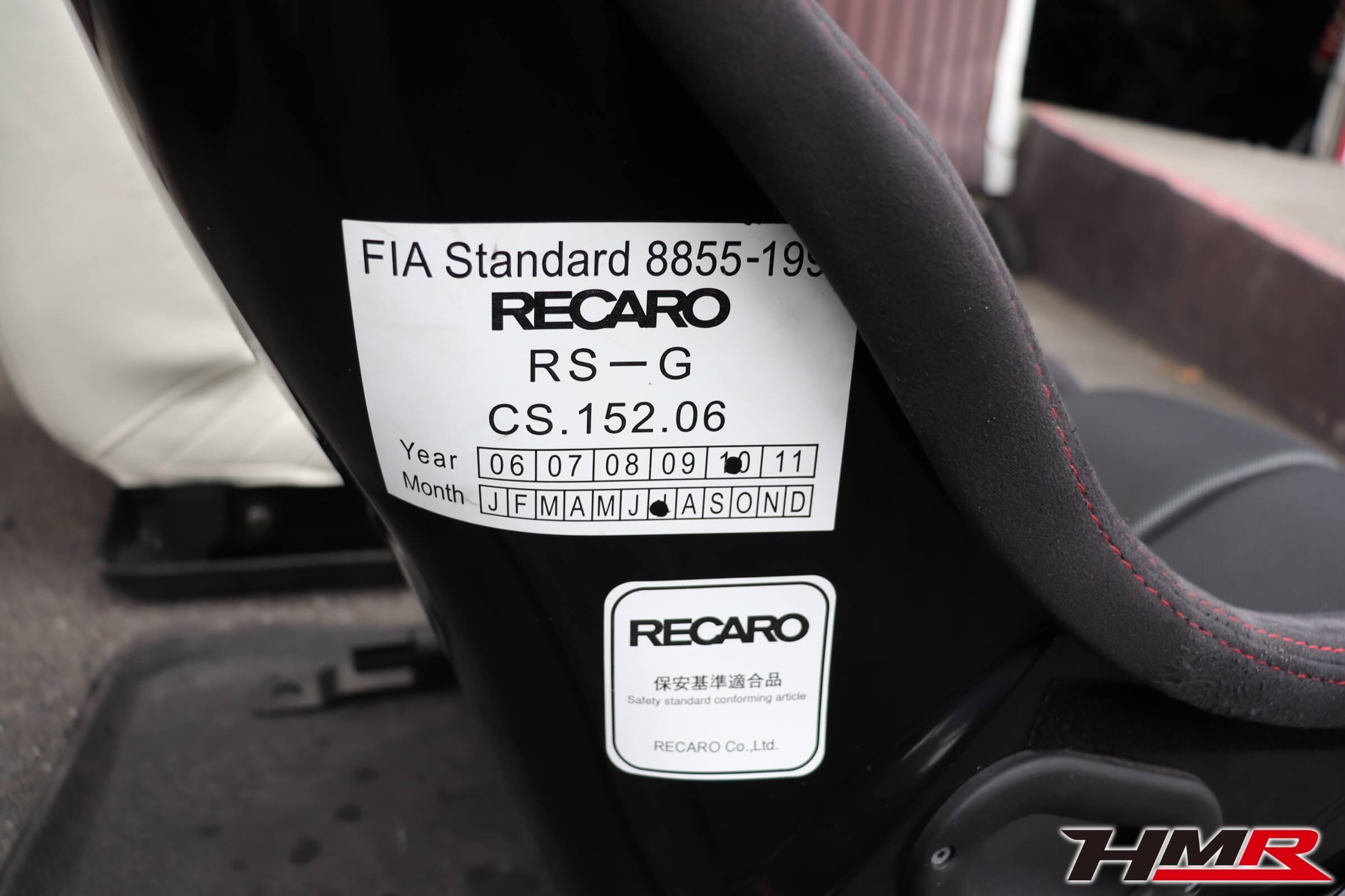 NSX(NA1)RS-Gレカロシート交換