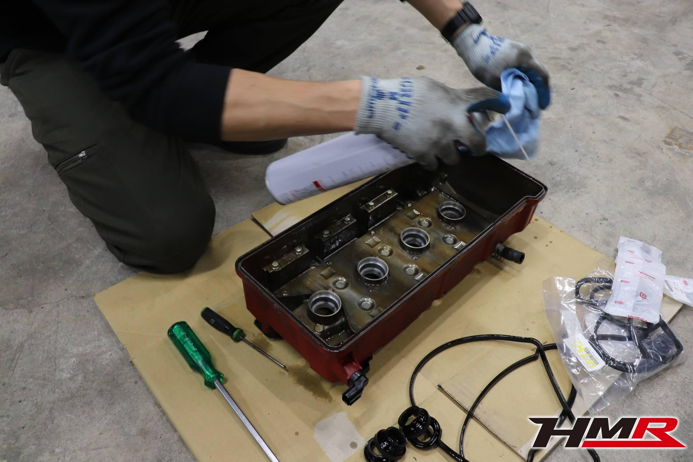 S2000 AP1 タイヤ交換 マックガード ヘッドカバーガスケット交換