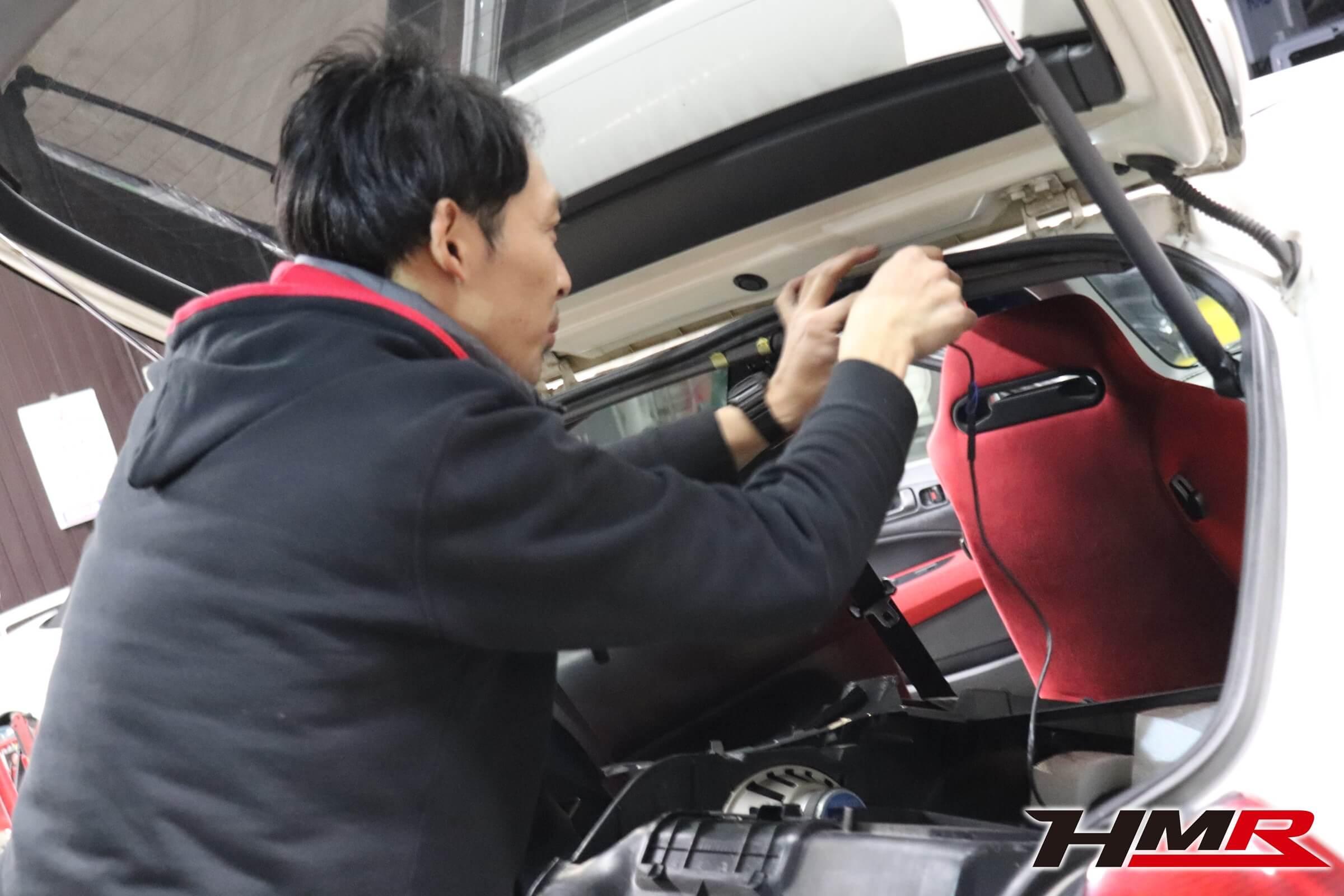 EK9 シビックタイプR ドライブレコーダー取付