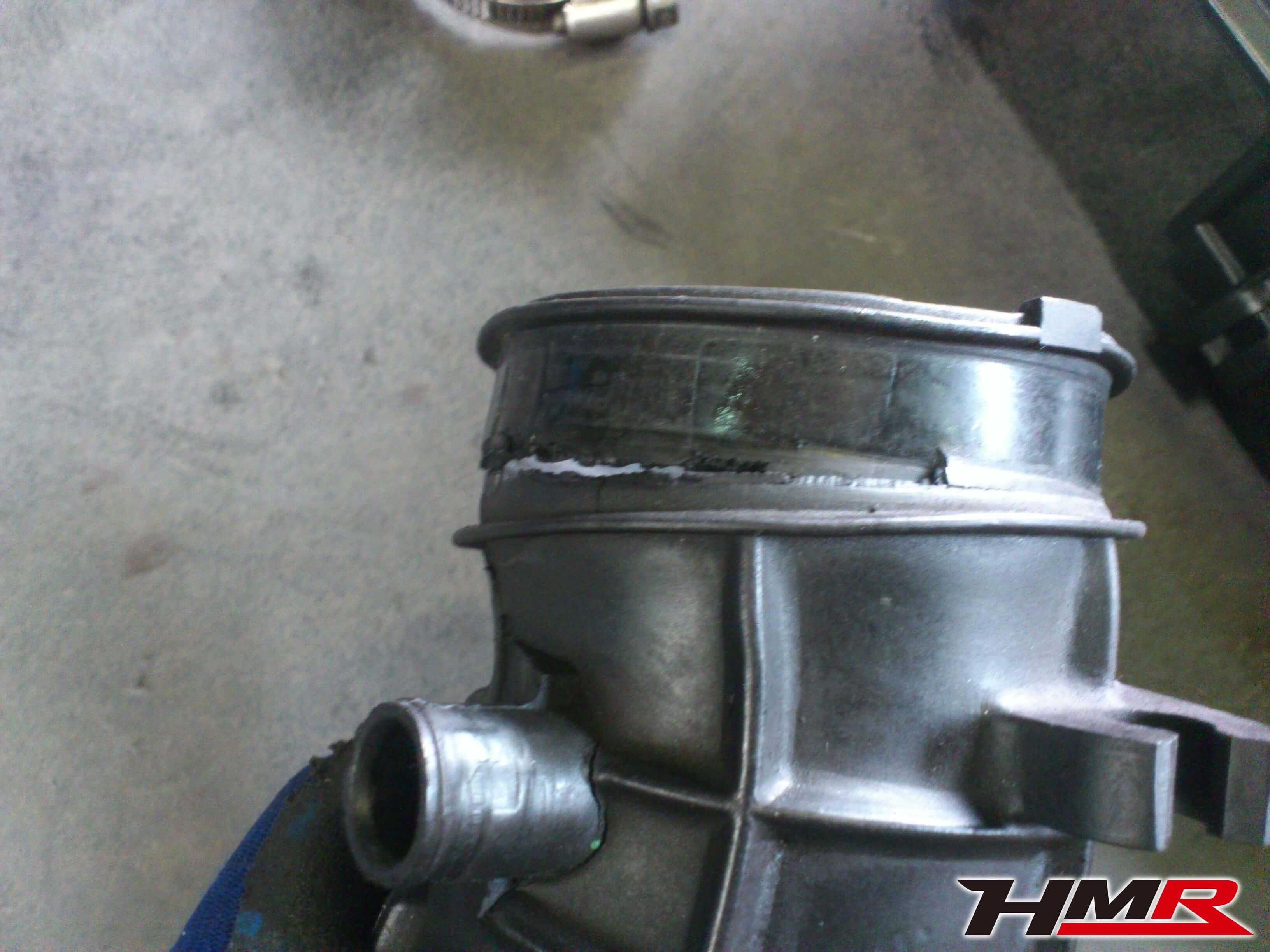 S2000 AP1 インテークパイプ交換亀裂