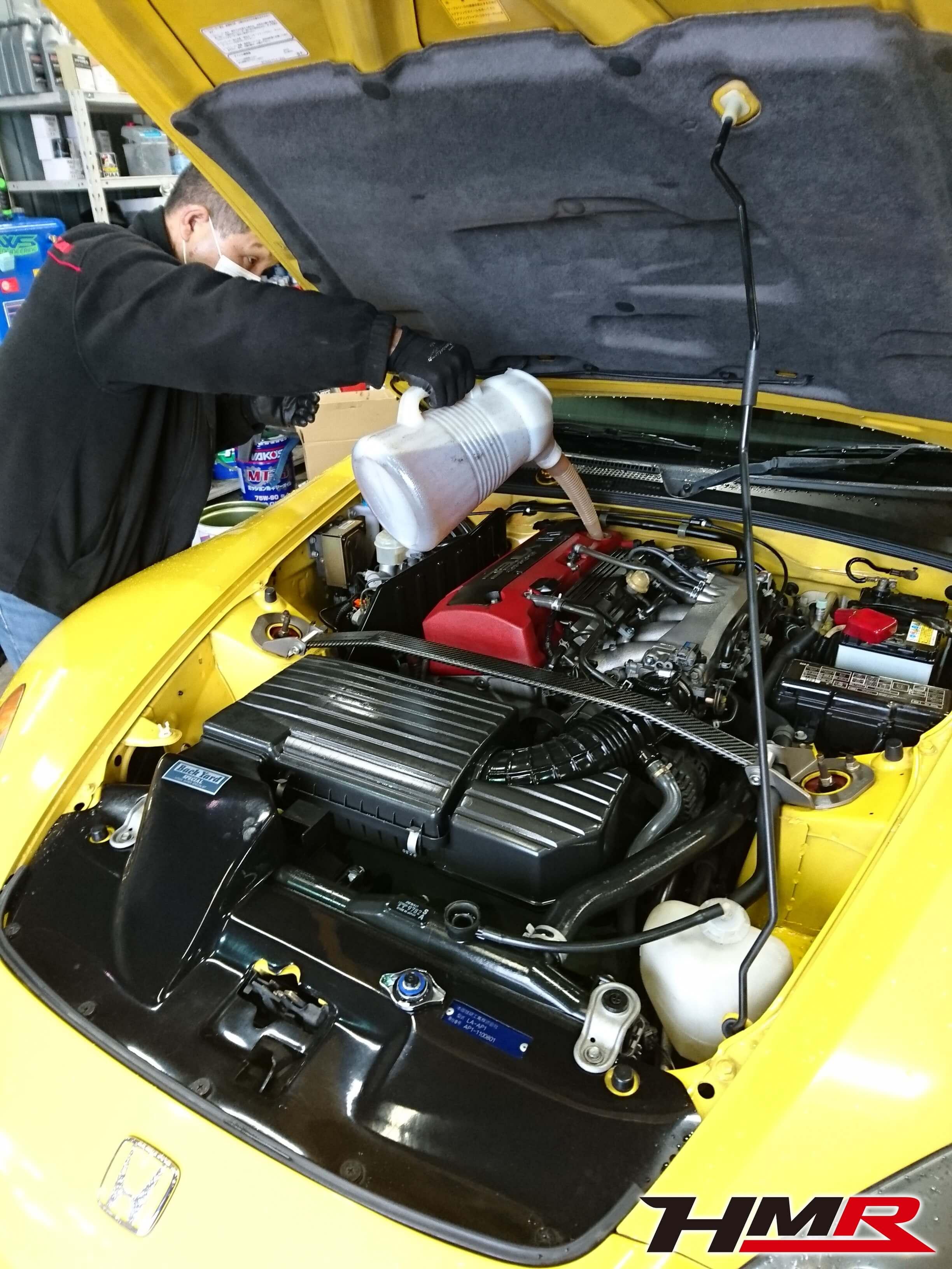 S2000 AP1 エンジンオイル交換