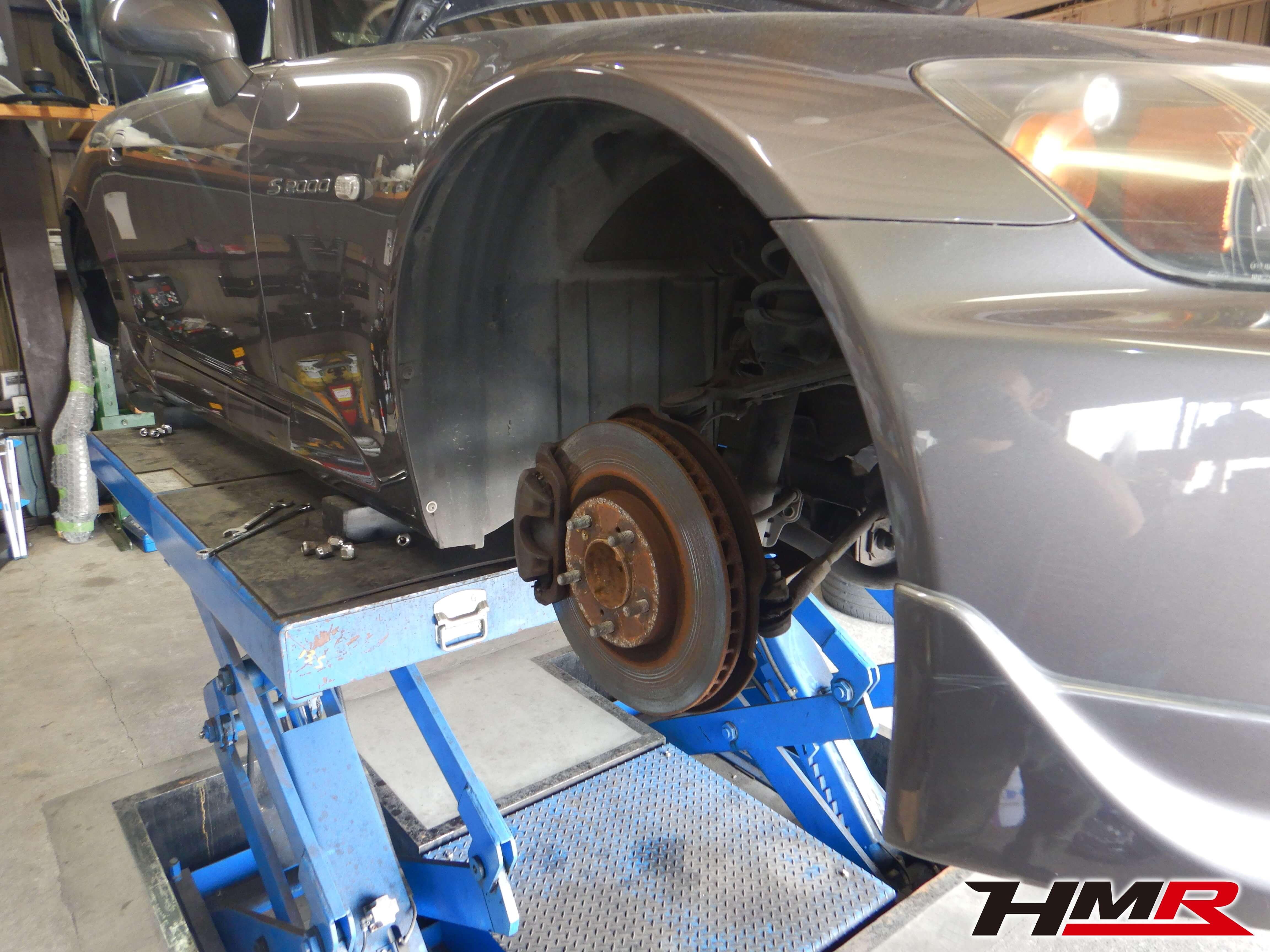 S2000 AP2 タイロッドエンドブーツ交換