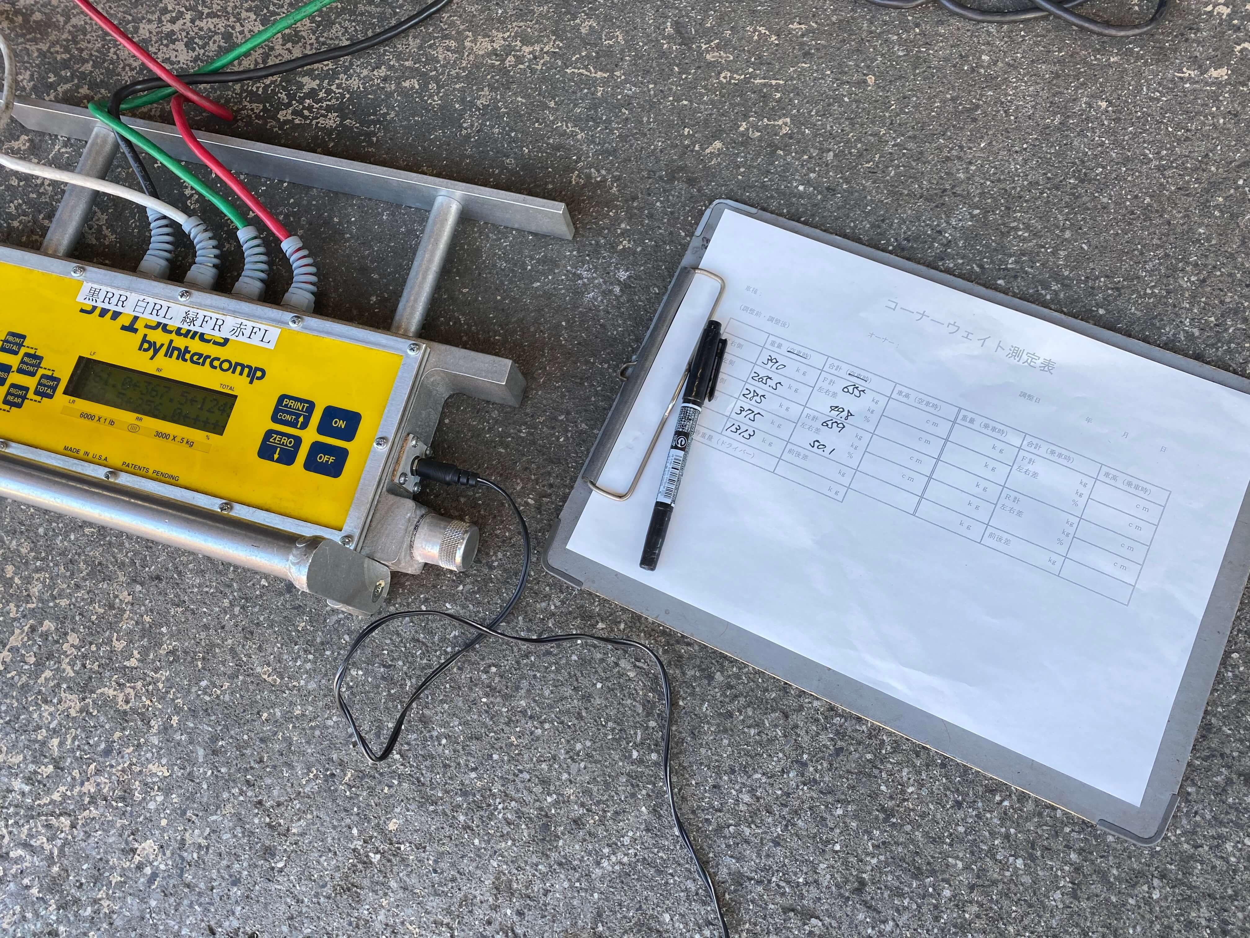 S2000(AP1) コーナーウェイト測定