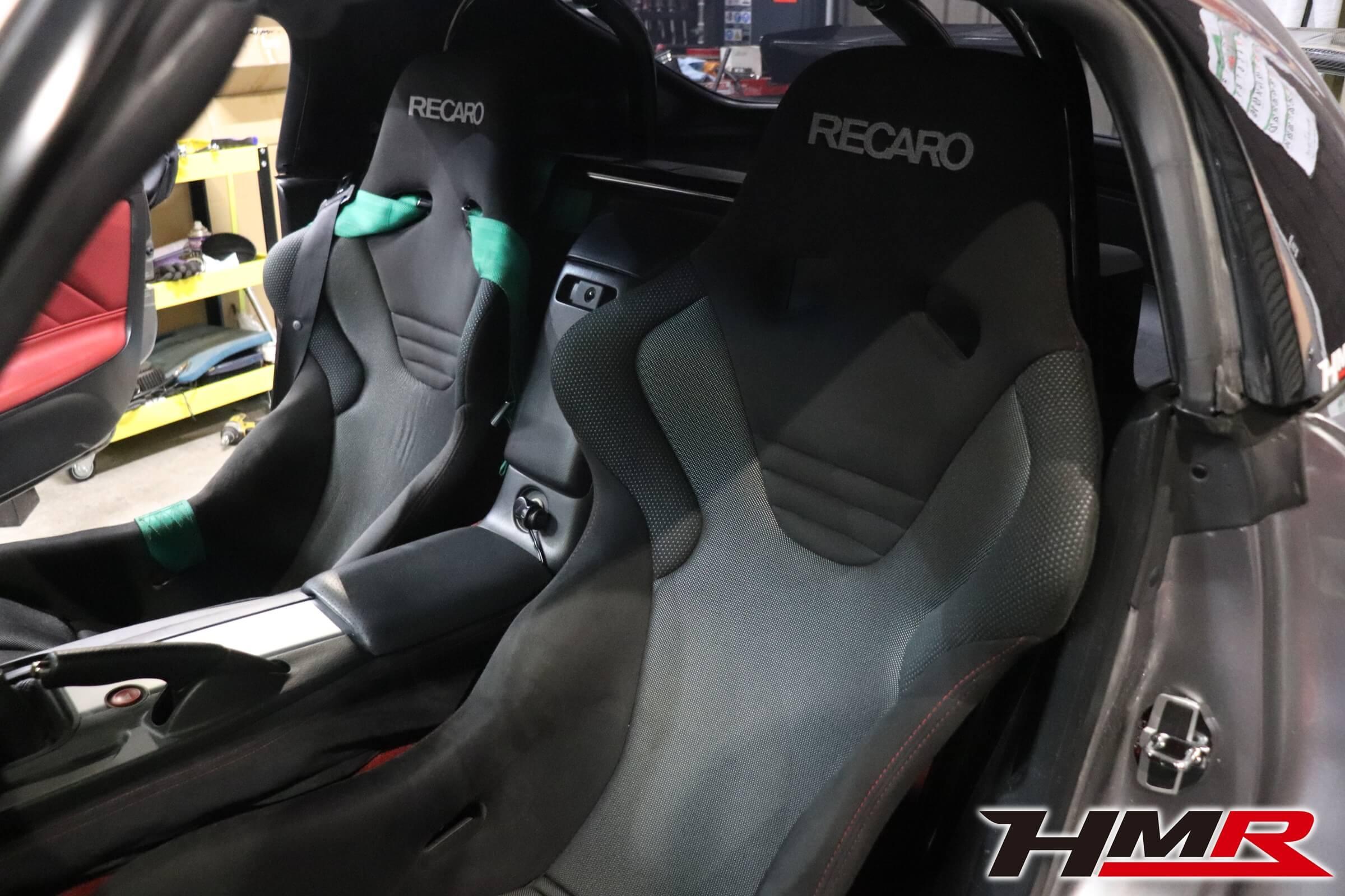 HMR S2000 助手席レカロシート交換