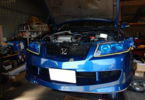 アコードユーロR(CL7)ヘッドライト交換
